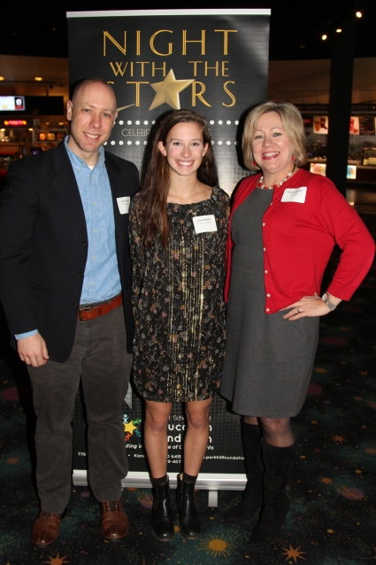 Alexis Maddox, who received the North Kansas City Hospital Scholarship, with Matt Heintz and Randee Gannon of North Kansas City Hospital