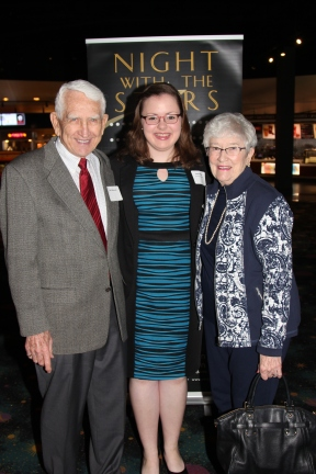 Bill and Jean Ohlhausen, scholarship sponsors, with Kayla Decker, recipient of the Ohlhausen Family Endowed Scholarship