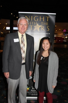 Bob Weidt, council president, with Mia Hackett, recipient of the Russell G. Jones, Sr. and Fern Mildred Jones Scholarship