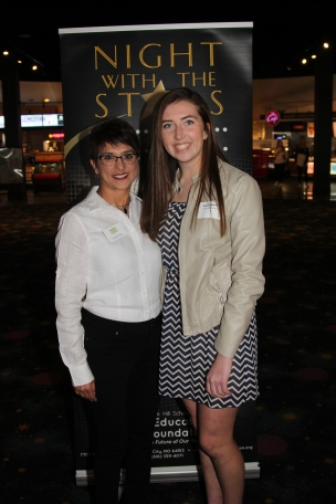Council member Carmen Scott with scholarship recipient Kallen Mazeitis, who received the Saint Luke's Northland Hospital Scholarship