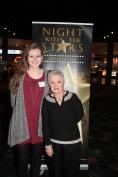 Maddie Anderson, recipient of the Scott Parrish Memorial Journalism Scholarship, with Jean Parrish, scholarship sponsor