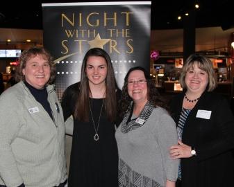 PHNEA Members, Jill Owens, Sue McClung and Janet Culver with Recipient, Nicole Gardner