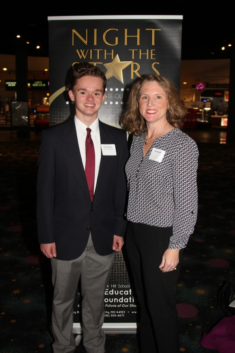 Ryan Decker, recipient of the William and Elvarea Fickle Scholarship, with Tara Bennett, scholarship sponsor