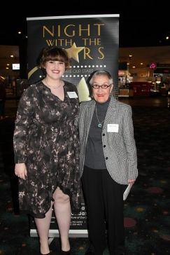 Dalyn Le Grand, who received the William P. Bucker Memorial Music Scholarship, with Barbara Bucker, council member and scholarship sponsor