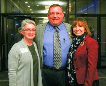 Judy and Kent Mayfield and Foundation Director Susan Van Hooser attended the event.