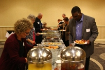 Community members enjoyed breakfast at the program.