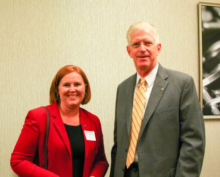 Danette Randon and Mark Eagleton with Citizen Bank and Trust were guests at the breakfast.