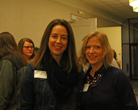 Kristin Sollars and Marcie Ebberts with Saint Luke's North Hospital attended the breakfast.