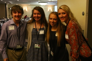 Students Tanner Jones, Chloe Godding, Morgan Gilsdorf and McKenna Webster attended the breakfast.
