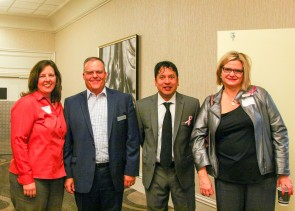 Jill Watson, Mark Krtek, Aaron Alonzo and Theresa Stancic attended the Community Breakfast.