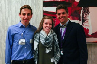 Students Austin Shields, Myka Brodecky and Brett Nelson attended the breakfast.