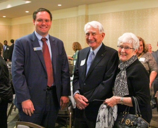 Park Hill School Board President Matt Pepper and patrons Bill and Jean Ohlhausen attended the breakfast.