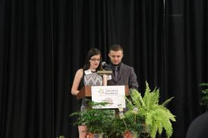 Student emcees Lauren Bunten from Park Hill High School and Wyatt Miller from Park Hill South High School