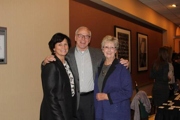 Superintendent Dr. Jeanette Cowherd with former superintendents Dr. Dennis Fisher and Dr. Gayden Carruth — with Gayden Fisher Carruth.