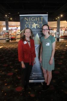 Scholarship sponsor Tara Bennett and Mart Heit, recipient of the William and Elvarea Fickle Scholarship