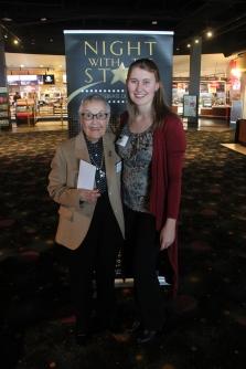 Barbara Bucker, council member and scholarship sponsor, with Deanna Eberhart, recipient of the William P. Bucker Memorial Music Scholarship
