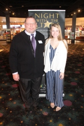 Council member Kent Mayfield and Josee Gentry, recipient of the William R. and June Porter Scholarship